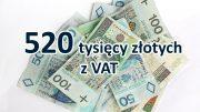 Pół miliona złotych odzyskanego VAT-u za 2012 rok